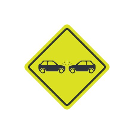 car collision icon. token accident sign. vector flat simple symbol