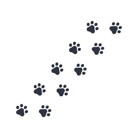 dog paws footprints. vector symbol on white background EPS10 Vettoriali