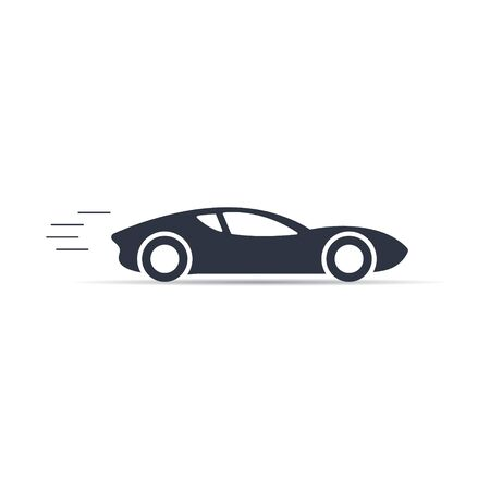 vector symbol sport car icon on white background in flat style EPS10