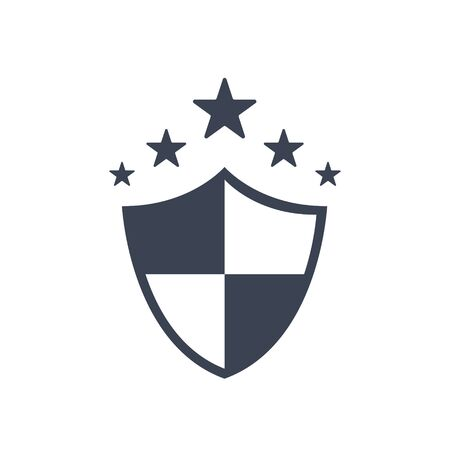 shield security icon. vector symbol in flat simple style EPS10
