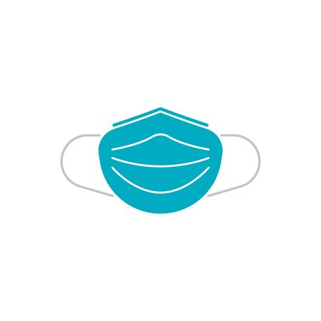 Sanitation and protection facemask icon set with respiratory face mask. medical mask icon in flat style EPS10
