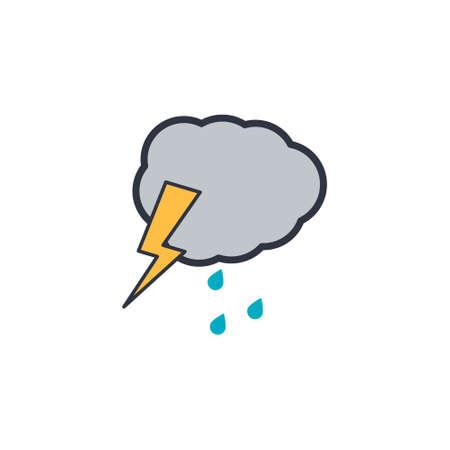 cloud lightning icon. vector symbol on white background EPS10