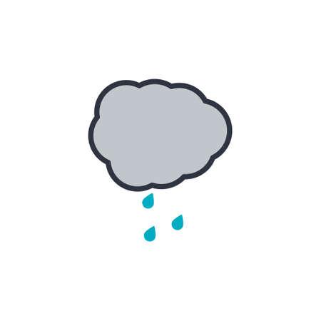 Rain icon. Modern line icon design on white background EPS10