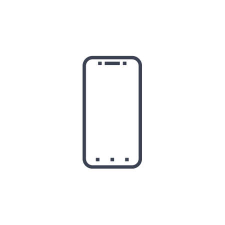 smartphone icon. vector illustration in flat simple style on white background EPS10