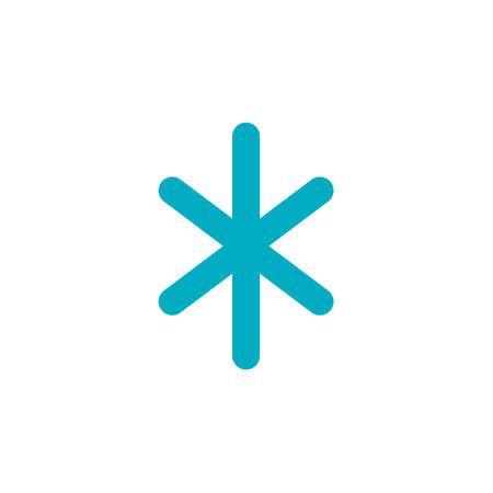 Snowflake icon. snow icon blue color on white background EPS10 Ilustração