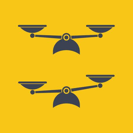 Vector scales Icon, isolated on orange bacground EPS10