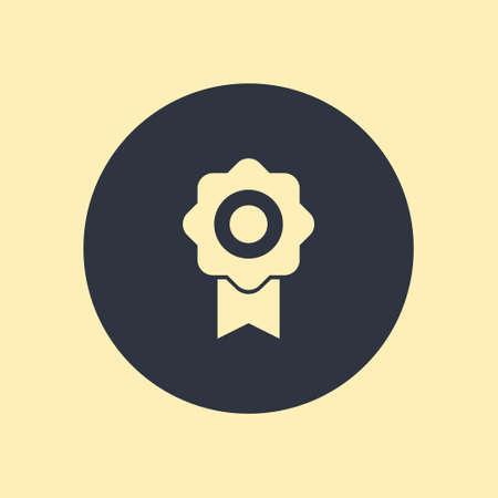 Award Icon Isolated on Round Background in flat design Ilustração