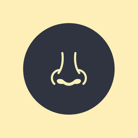 Nose - vector icon, flat design on round background