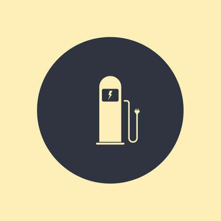 Green Eco Electric Fuel Pump Vector Icon