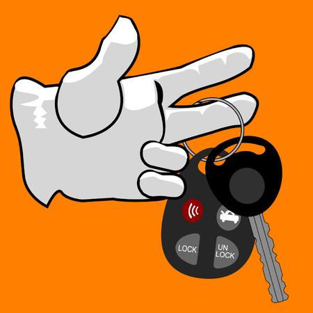 rent: A hand and a cars keys.