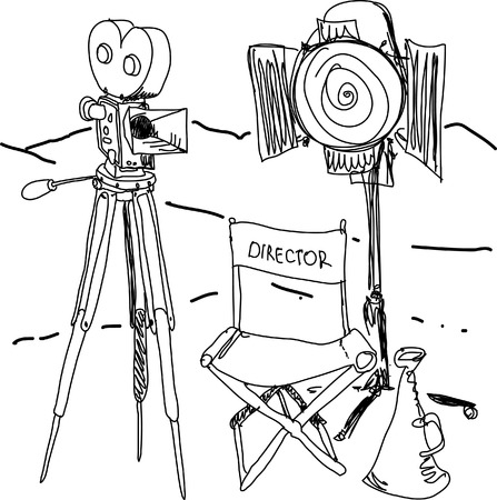 movie director: Cinema set