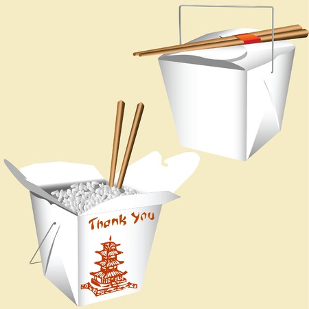 chinese fast food: Alimentos de China Vectores