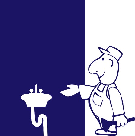 Happy Plumber  Stock Illustratie