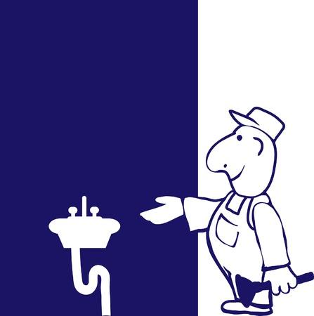 plumber with tools: Plomero feliz