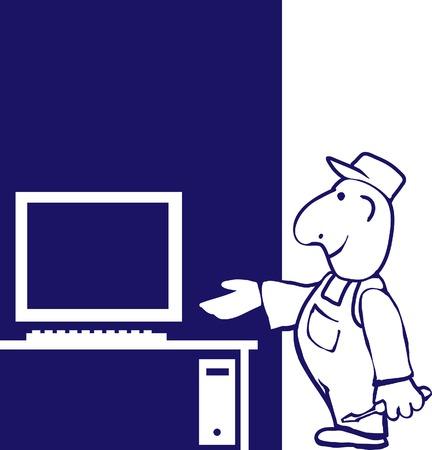 Master on repair computer.