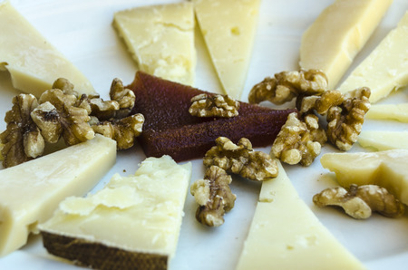 spainish: Spainish tapas - cheese, nuts and quince