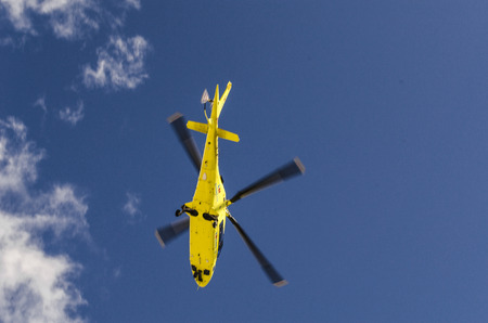 Emergency service helicopter