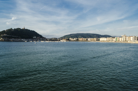 basque country: San Sebastian cityscape, Basque Country, Spain Stock Photo