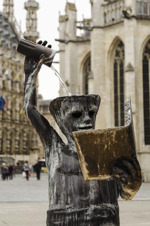 leuven: Statue in Leuven Stock Photo