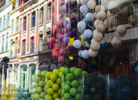 lille: Colorful showcase Stock Photo