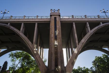 spanish landscapes: Bridge in Madrid Stock Photo