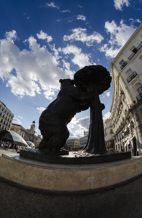 famous: Famous statue in Madrid