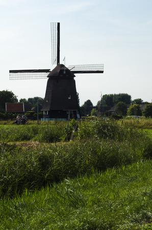 dutch: Dutch windmill in Alkmaar