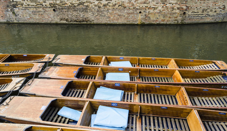 punting: Cambridge, United Kingdom Stock Photo