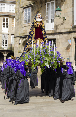 procession: Traditional Holy Week procession in Spain