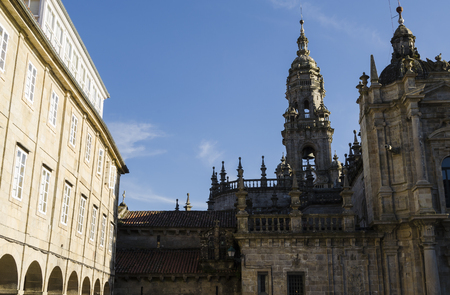 compostela: Cathedral in Santiago de Compostela, Spain Stock Photo