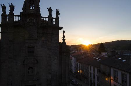 compostela: Church in Santiago de Compostela, Spain Stock Photo