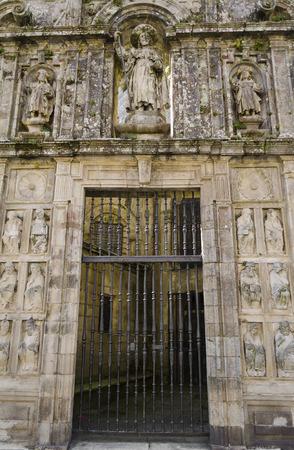 compostela: Religious architectural detail in Santiago de Compostela, Spain