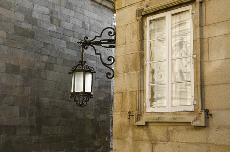 santiago: Architecture detail in Santiago de Compostela, Spain Stock Photo