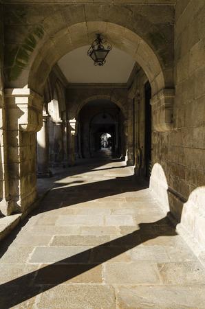 compostela: Architecture detail in Santiago de Compostela, Spain Stock Photo