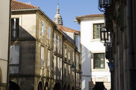compostela: Architecture in Santiago de Compostela, Spain Stock Photo