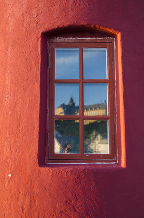 exterior architectural details: Lighthouse in Alesund Stock Photo