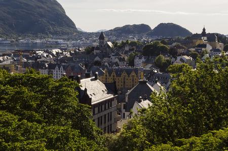 alesund: Alesund city view, Norway
