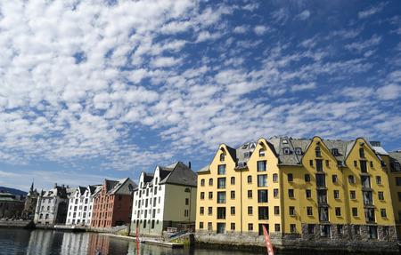 alesund: Architecture in Alesund, Norway