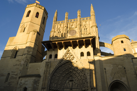 huesca: Huesca cathedral, northern Spain Stock Photo