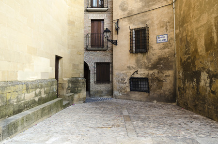 huesca: Architecture in Huesca, Spain Stock Photo