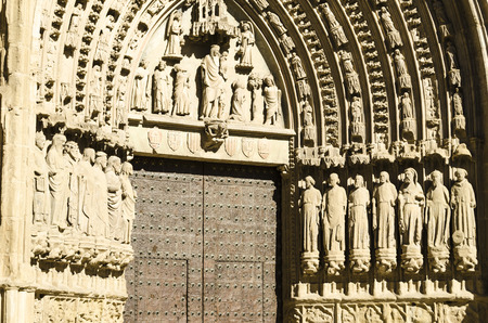 huesca: Huesca cathedral detail, northern Spain