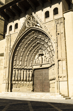northern spain: Huesca cathedral detail, northern Spain