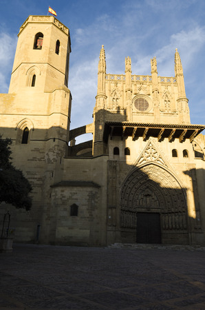 northern spain: Huesca cathedral, northern Spain Stock Photo