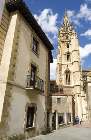 northern spain: Cathedral in Oviedo, northern Spain Editorial
