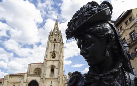 northern spain: Statue in Oviedo, northern Spain