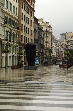 northern spain: Architecture in Oviedo, northern Spain Stock Photo