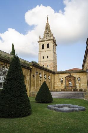 northern spain: Church in Oviedo, northern Spain