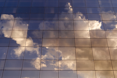 sky reflection: Sky reflection in glass building