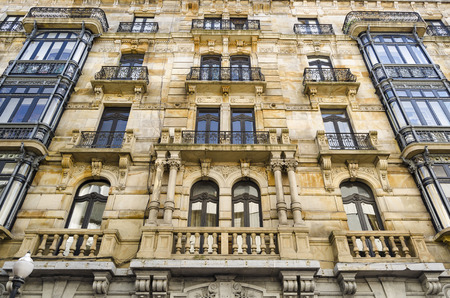 northern spain: Architectural detail in Gijon, northern Spain
