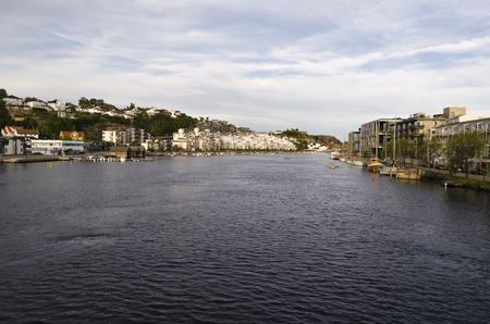 kristiansand: Kristiansand port, Norway Stock Photo